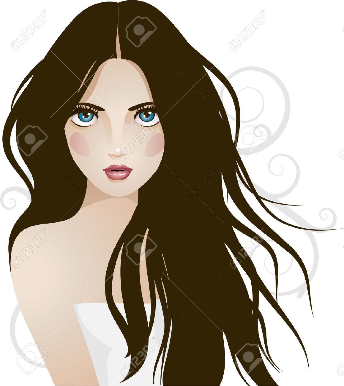 Pretty Girl Clip Art