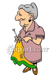 Pretty Old Lady Clipart