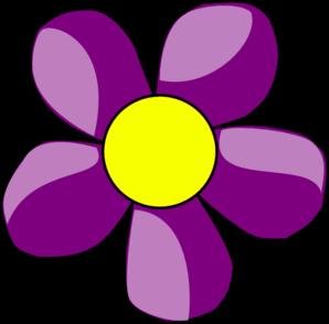 Pretty Purple Flower Clip Art. Pink And -Pretty Purple Flower Clip Art. pink and purple flower% .-5