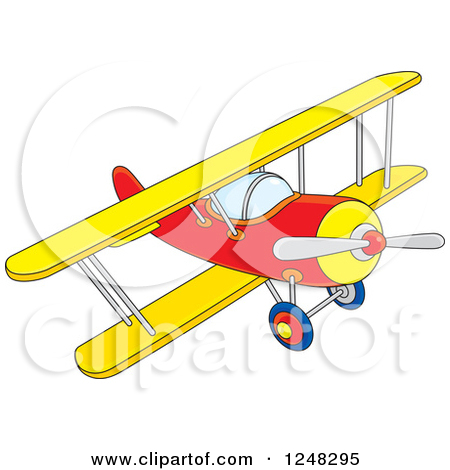 Preview Clipart - Biplane Clipart