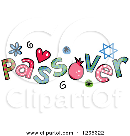 Preview Clipart. Colorful Sketched Passover Text