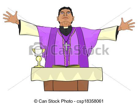 Priest Clipartby Amplion2/1,196; Priest -Priest Clipartby Amplion2/1,196; Priest - The Catholic priest celebrating Mass at the altar.-13