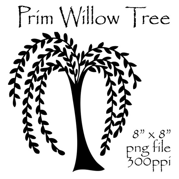 Prim Willow Tree Clipart Primitive Willow Tree Prim Clipart Prim