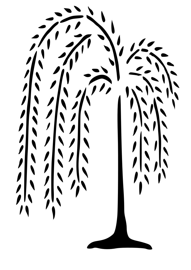 Primitive Country Willow Tree Wall Decal Wall Decor Fotofuze