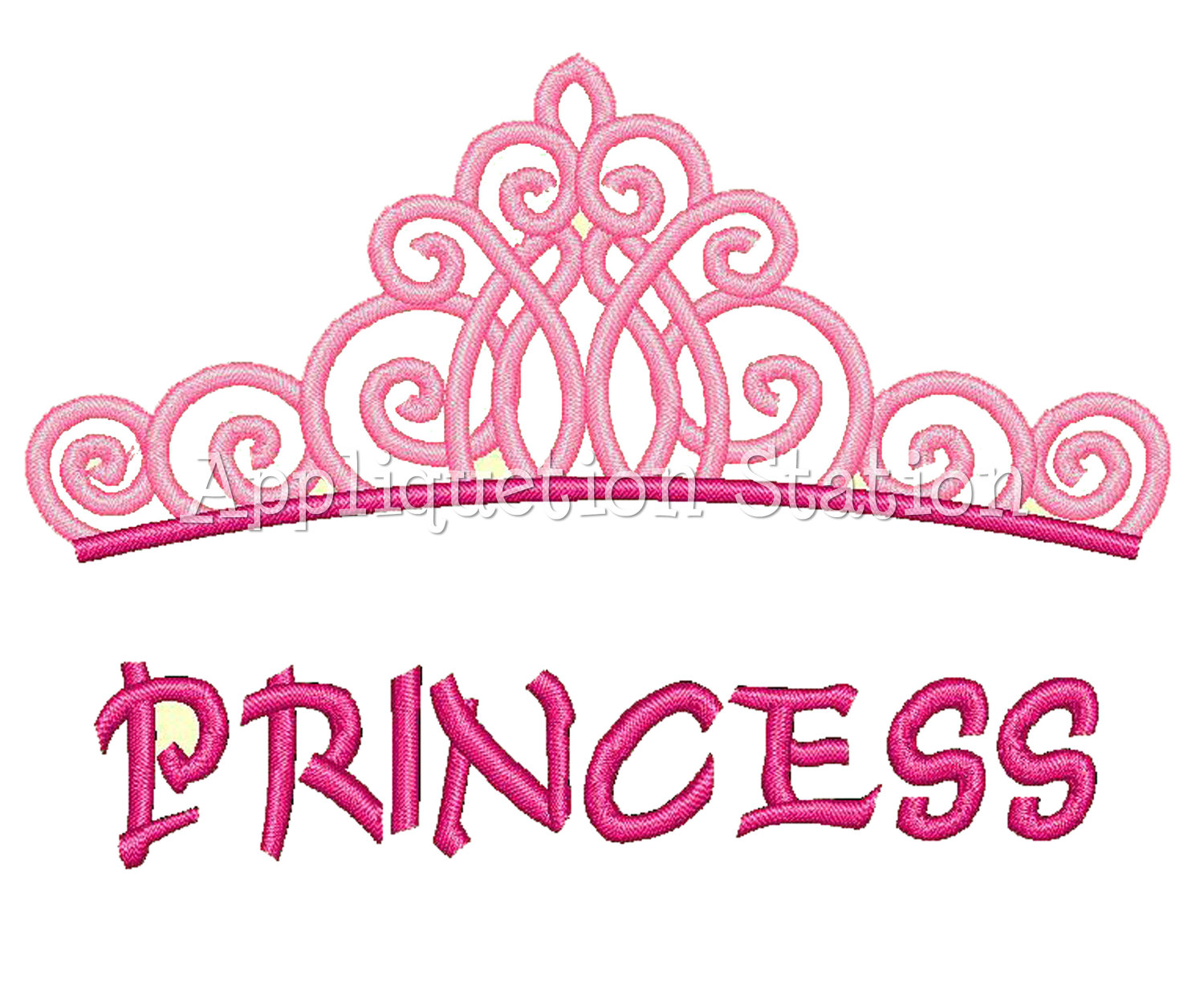Princess Tiara Crown Machine Embroidery By Appliquetionstation
