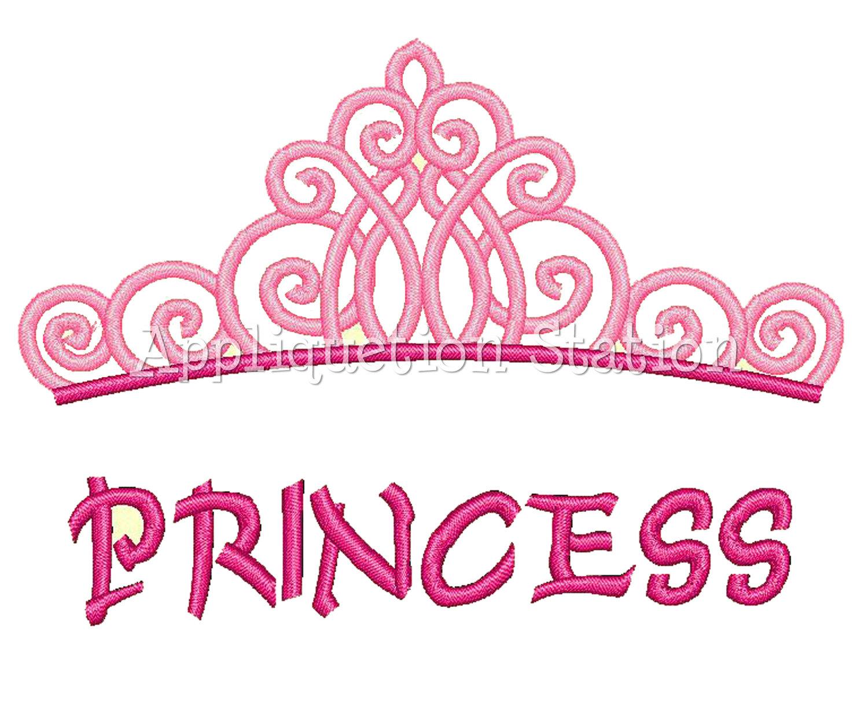 Princess Tiara Crown Machine Embroidery -Princess Tiara Crown Machine Embroidery By Appliquetionstation-3