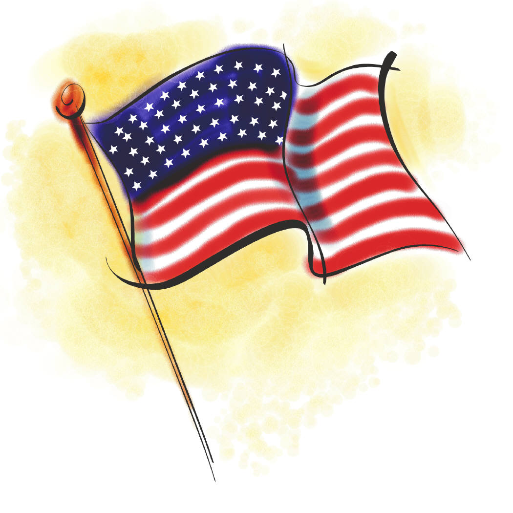 Printable American Flag Clipart Image Cl-Printable American Flag Clipart Image Click For An Alt Size Of This-18