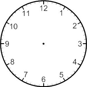 ... Printable Blank Clock Face - ClipArt Best ...