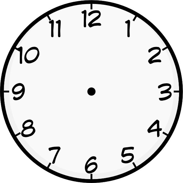 Printable Blank Clock Face - Clipart lib-Printable Blank Clock Face - Clipart library-12