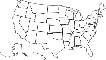 Printable Blank Us Map With .-Printable blank us map with .-4