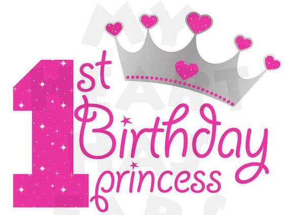 Printable DIY 1st First Birthday Princes-Printable DIY 1st First Birthday princess digital clip art by  MyHeartHasEars DIY iron on transfer for-16