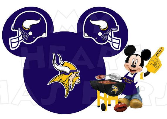 Printable DIY Mickey Mouse Minnesota Vikings by MyHeartHasEars, $5.00 | Sports Disney Style | Pinterest | Football, Minnesota vikings and Minnesota