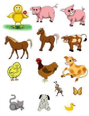 Printable Farm Animals Clipart. Flower F-Printable Farm Animals Clipart. Flower Free Printable Clipart-16