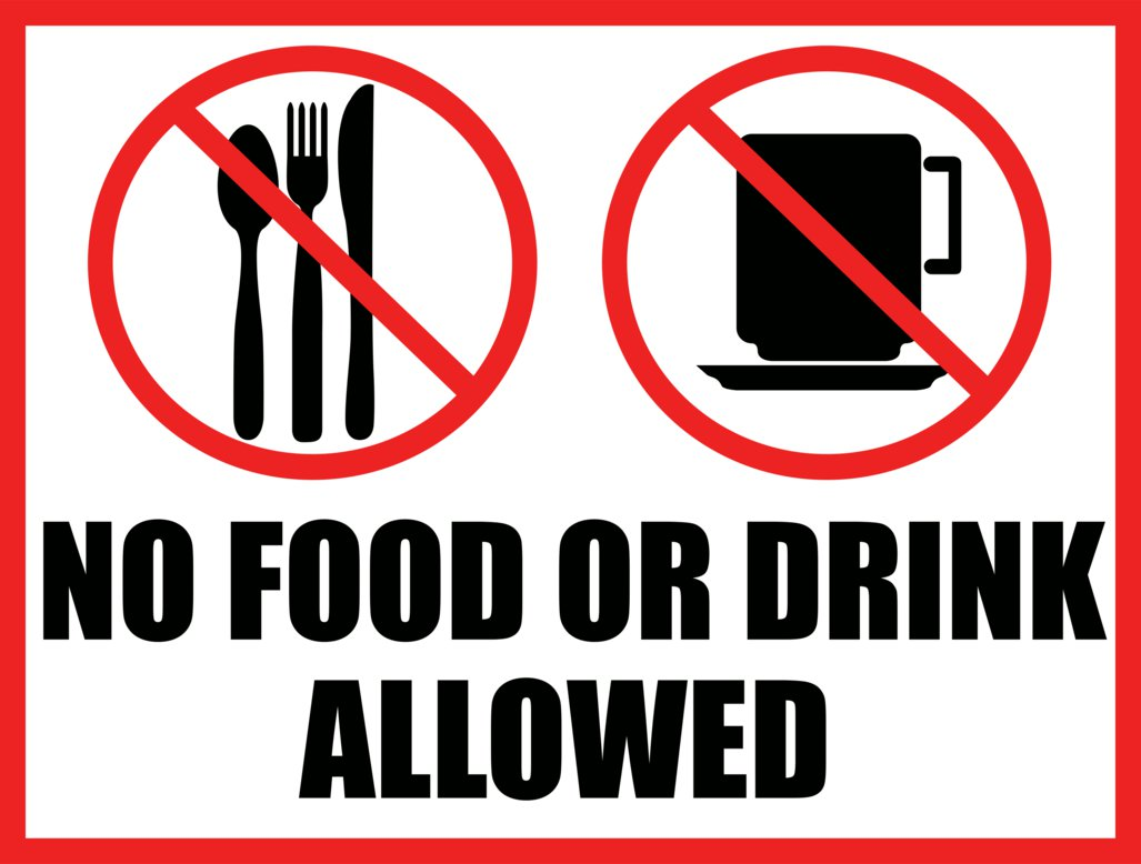 Printable No Eating Or Drinking Sign Clipart Best