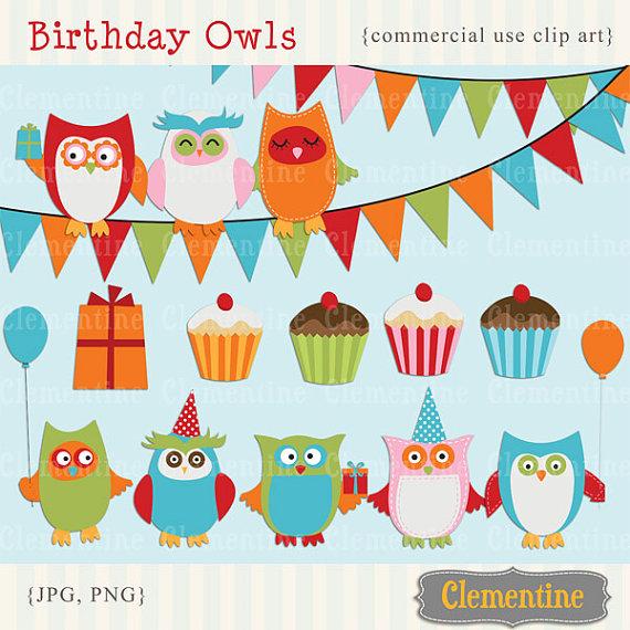 Printable Owl Clip Art Birthday Clip Art Royalty Free Commercial