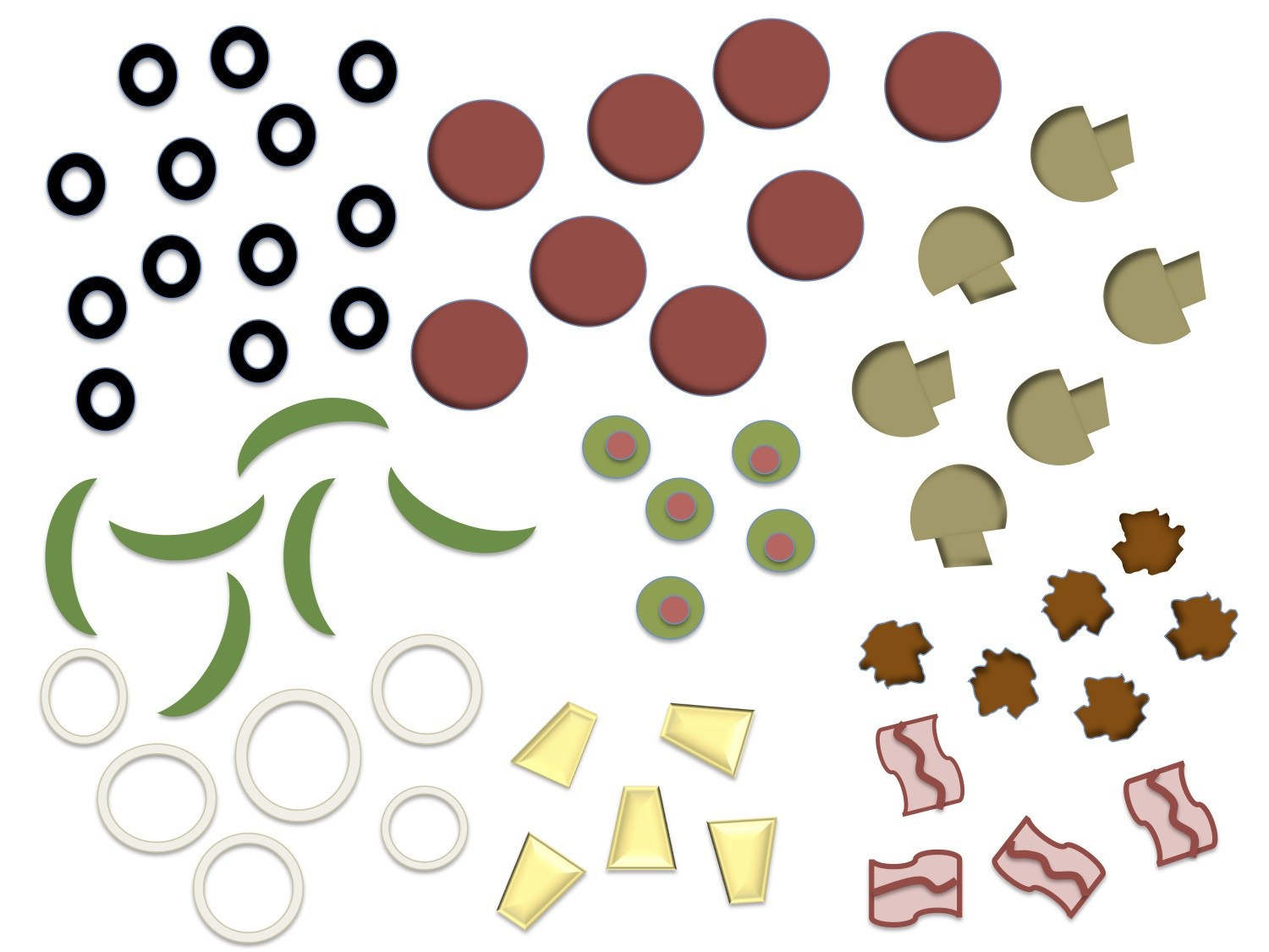 Printable Pizza Toppings Clipart Free Cl-Printable Pizza Toppings Clipart Free Clipart-19
