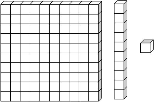 Printable Place Value Chart . - Base Ten Blocks Clip Art