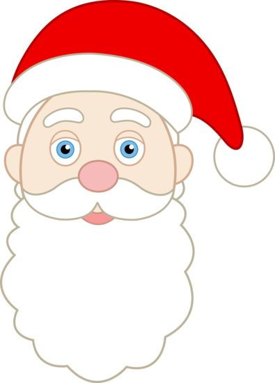 printable santa face pattern | Face of S-printable santa face pattern | Face of Santa Claus - Free Clip Art | holidays | Pinterest-12