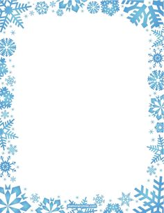 Printable Snowflake Stationery And Writi-Printable snowflake stationery and writing paper. Free PDF downloads at  http://stationerytree-8