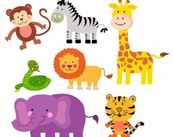 Printable Zoo Animals Clipart