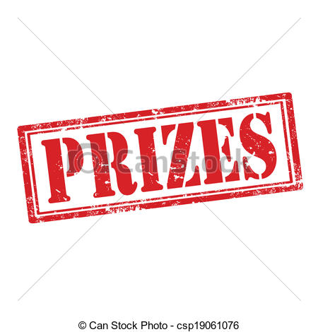Prizes-stamp - Grunge rubber stamp with word Prizes,vector.