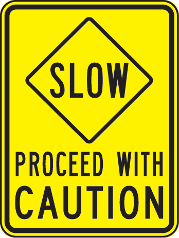 Proceed With Caution Clipart
