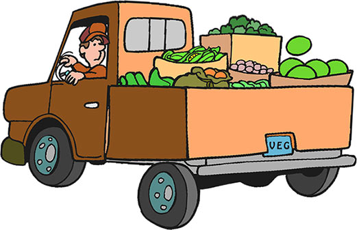 produce truck - Clipart Trucks