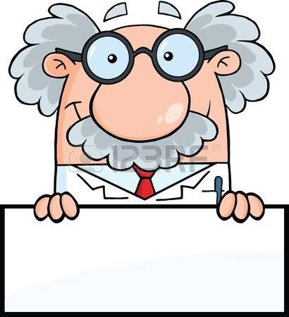 professor: Smiling Scientist Or Professo-professor: Smiling Scientist Or Professor Over Blank Sign-12