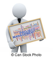 Project Management Clipartby PhotoEstela-Project management Clipartby PhotoEstelar10/339; 3d businessman and project  management word tags - 3d.-12