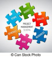 ... Project management diagram scheme concept - Vector Project.
