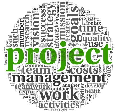 Project Management: Project And Manageme-project management: Project and management concept in word tag cloud on  white background Stock Photo-18