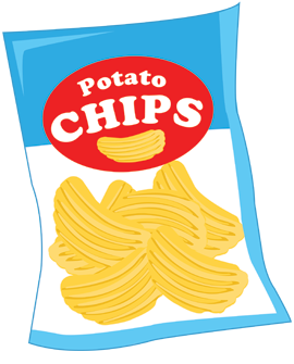 Chips Clipart Black And White