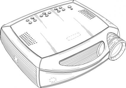 Projector Realistic Gray Body; Video Pro-Projector Realistic Gray Body; Video Projector-5