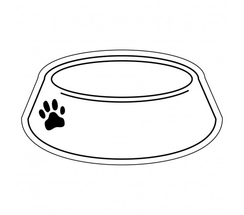 Promotional 2 X 3 5 Dog Bowl Shaped Magnets Full Color