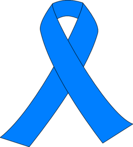 Prostate Cancer Light Blue Ribbon Clip Art