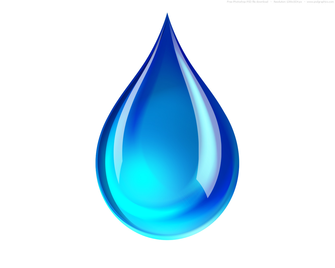 Psd Blue Water Droplet Icon Psdgraphics