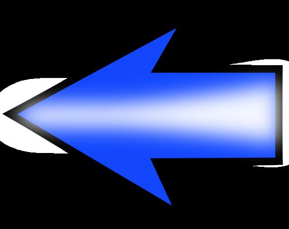 Public Domain Clip Art Image | Illustration of a blue left arrow .