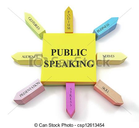 ... Public Speaking Sticky Notes - A colorful sticky note.
