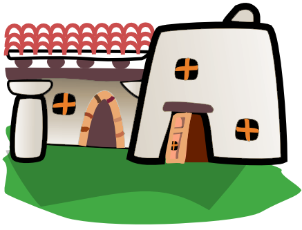 Pueblo Indian Clipart. adobe home .