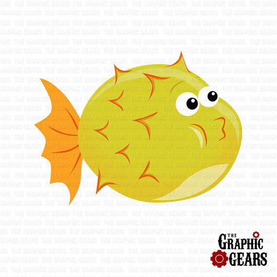 Puffer Fish Clip Art Cute Puffer Fish Clip Art Personal Or