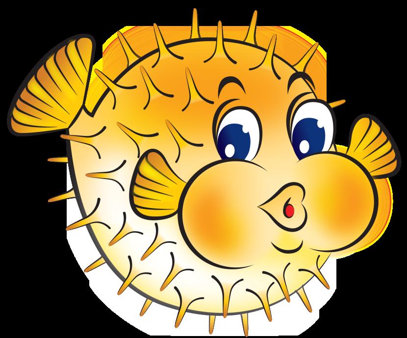 Puffer fish clip art