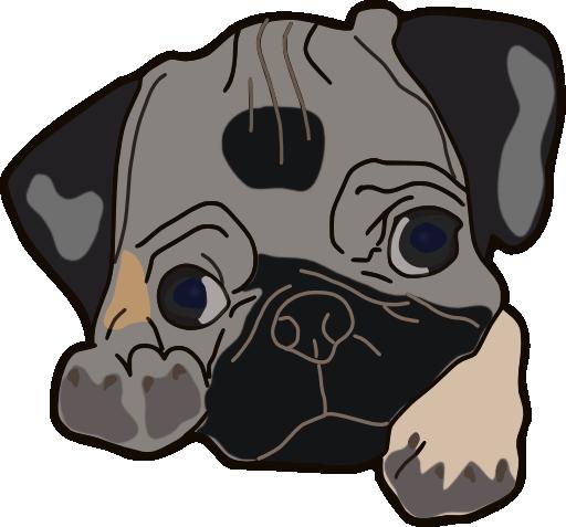 Pug Clipart-Pug Clipart-5