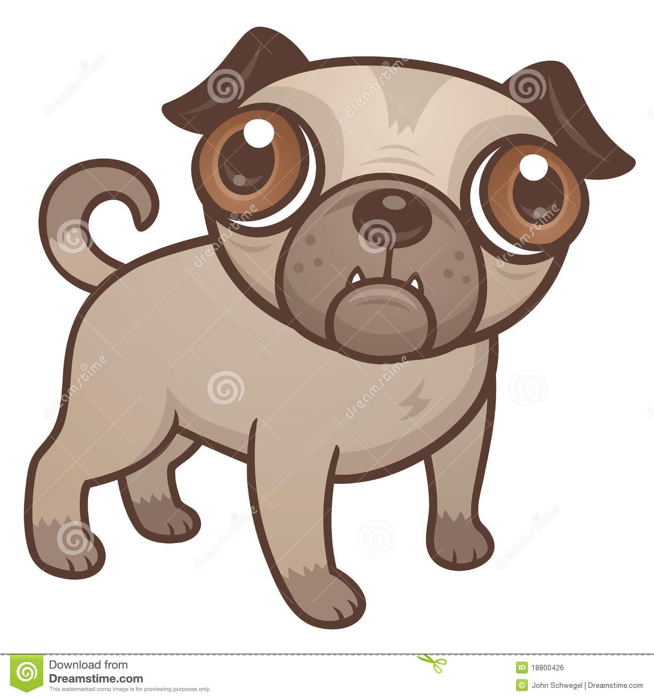 Pug Puppy Cartoon Royalty Free Stock Ima-Pug Puppy Cartoon Royalty Free Stock Image-19