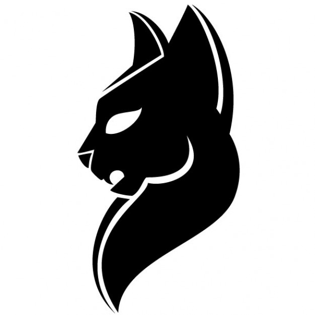 Black head of puma illustration Free Vector