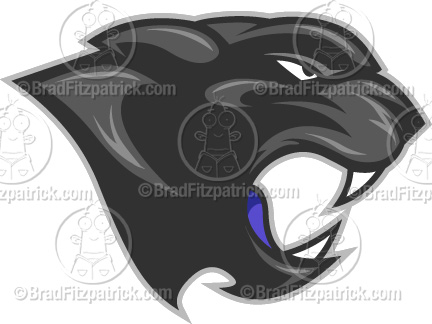 Cartoon Puma Mascot Clipart Graphics