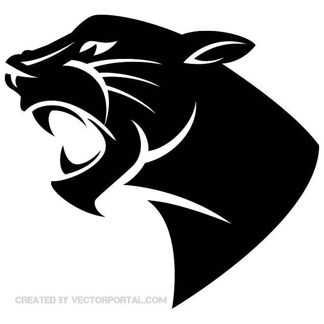 . ClipartLook.com PANTHER HEAD VECTOR IMAGE ClipartLook.com