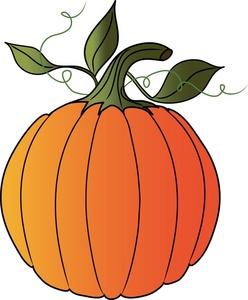 pumpkin clipart black and white vines