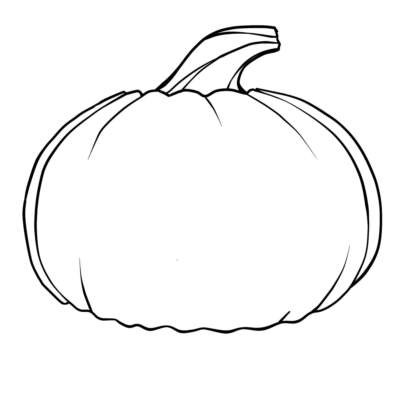 Pumpkin Outline Clipart-pumpkin outline clipart-7