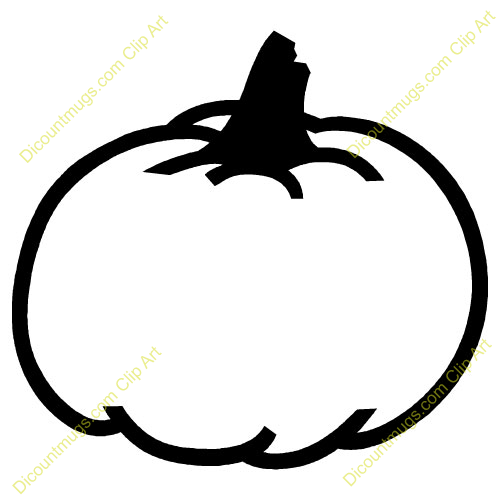 pumpkin outline clipart