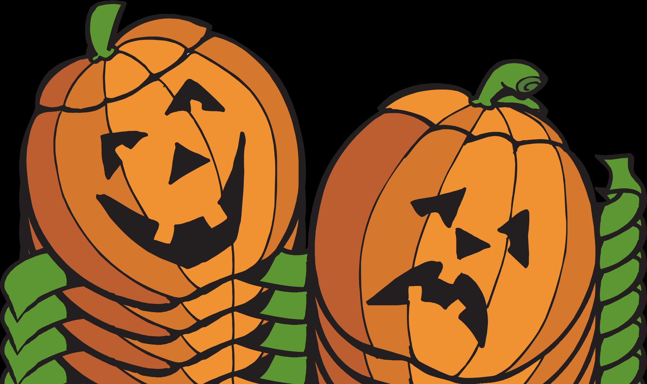 pumpkin patch border clipart